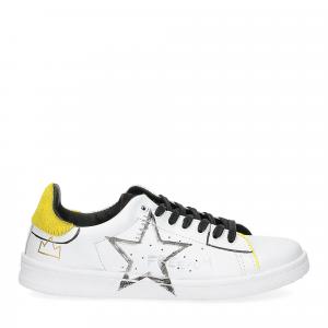 Nira Rubens daiquiri DAST178 sneaker bianca stella yellow writer-2