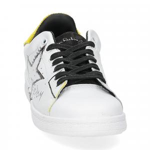 Nira Rubens daiquiri DAST178 sneaker bianca stella yellow writer-3