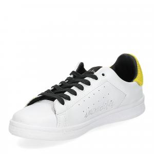 Nira Rubens daiquiri DAST178 sneaker bianca stella yellow writer-4