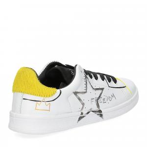 Nira Rubens daiquiri DAST178 sneaker bianca stella yellow writer-5