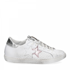 2Star 2600 sneaker low bianco rosa-2