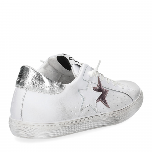 2Star 2600 sneaker low bianco rosa-5