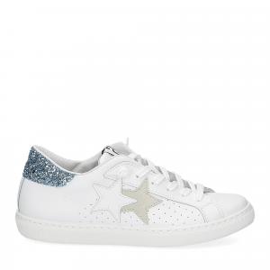 2Star 2611 sneaker low bianco celeste-2
