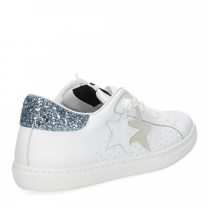2Star 2611 sneaker low bianco celeste-5