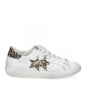 2Star 2622 sneaker low bianco maculato beige-3