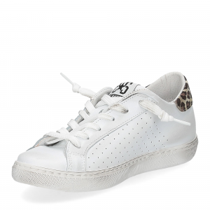 2Star 2622 sneaker low bianco maculato beige-4