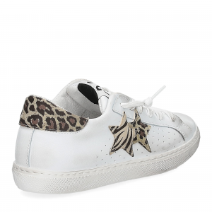 2Star 2622 sneaker low bianco maculato beige-5