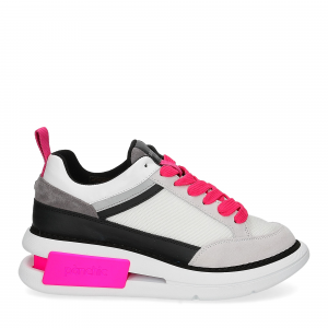 Panchic P07W suede purity black fuxia fluo-2