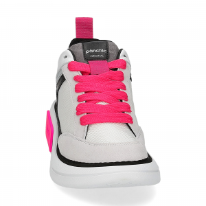 Panchic P07W suede purity black fuxia fluo-3