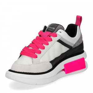 Panchic P07W suede purity black fuxia fluo-4