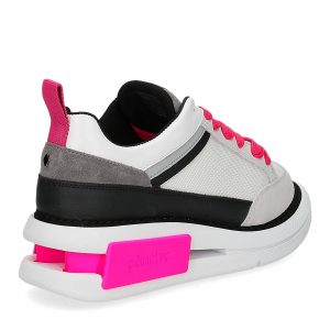 Panchic P07W suede purity black fuxia fluo-5