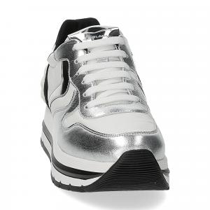 Voile Blanche Maran power pelle argento bianco nero-3