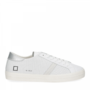 D.A.T.E. Hill low vintage perforated white silver-2