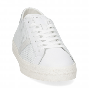 D.A.T.E. Hill low vintage perforated white silver-3
