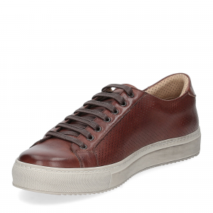 Griffi's sneaker 1102 pelle forata marrone-3