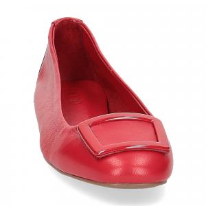 Il Laccio ballerina 18107 fibbia pelle rossa-3