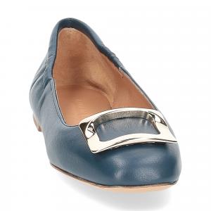 Anna de Bray ballerina SQ051 pelle blu-3