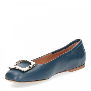 Anna de Bray ballerina SQ051 pelle blu-4