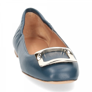 Anna de Bray ballerina SQ051 pelle blu-8