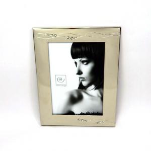Cornice portafoto in silver 13X18 con brillantini