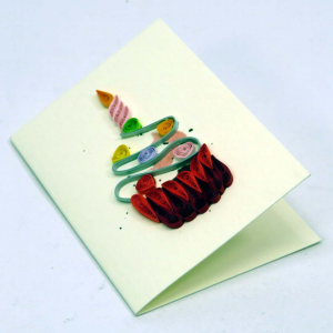 Mini biglietto Cupcake in filigrana di carta