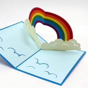 Mini biglietto arcobaleno origamo