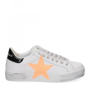 Nira Rubens Martini sneaker bianca stella orange vintage black-2