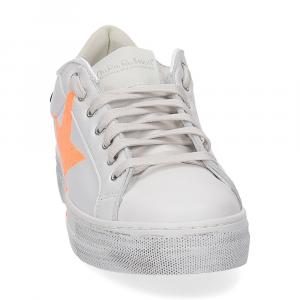 Nira Rubens Martini sneaker bianca stella orange vintage black-3