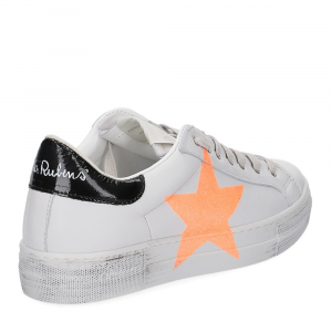 Nira Rubens Martini sneaker bianca stella orange vintage black-5