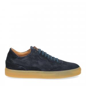 Corvari Sneaker Camoscio blu-2