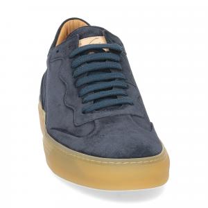 Corvari Sneaker Camoscio blu-3
