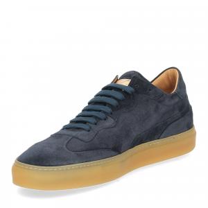 Corvari Sneaker Camoscio blu-4