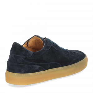 Corvari Sneaker Camoscio blu-5