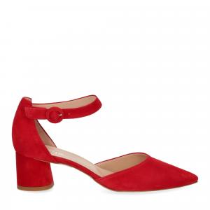 Il Laccio sandaliera camoscio rosso-2