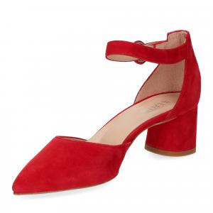 Il Laccio sandaliera camoscio rosso-4