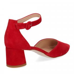 Il Laccio sandaliera camoscio rosso-5