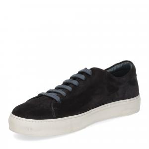Griffi's sneaker camoscio blu-4