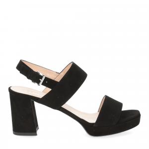 Il laccio Sandalo E2700 camoscio nero-2