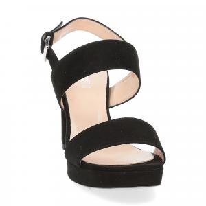 Il laccio Sandalo E2700 camoscio nero-3