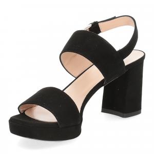 Il laccio Sandalo E2700 camoscio nero-4