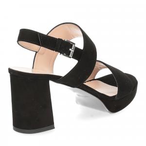 Il laccio Sandalo E2700 camoscio nero-5