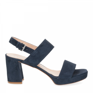 Il laccio Sandalo E2700 camoscio blu-2