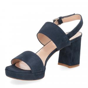 Il laccio Sandalo E2700 camoscio blu-4