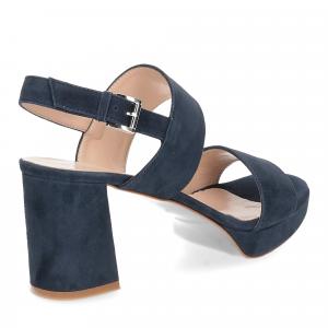 Il laccio Sandalo E2700 camoscio blu-5