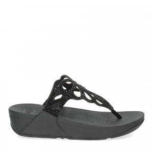 Fitflop Bumble Crystal toe post black-2