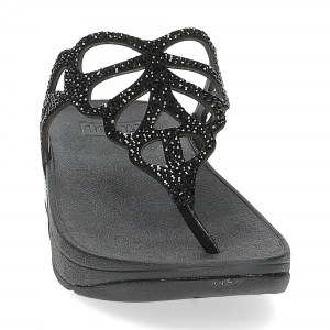 Fitflop Bumble Crystal toe post black-3