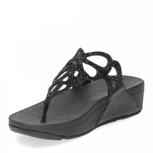 Fitflop Bumble Crystal toe post black-4