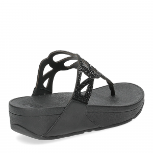 Fitflop Bumble Crystal toe post black-5