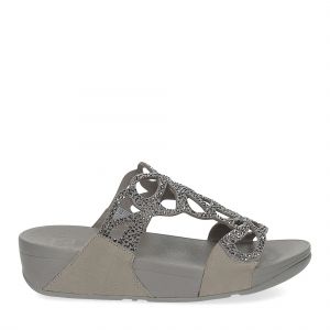 Fitflop Bumble Crystal slide pewter-2