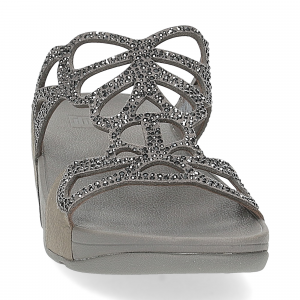 Fitflop Bumble Crystal slide pewter-3